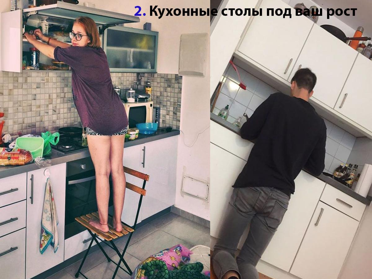 Кухонные столы под рост